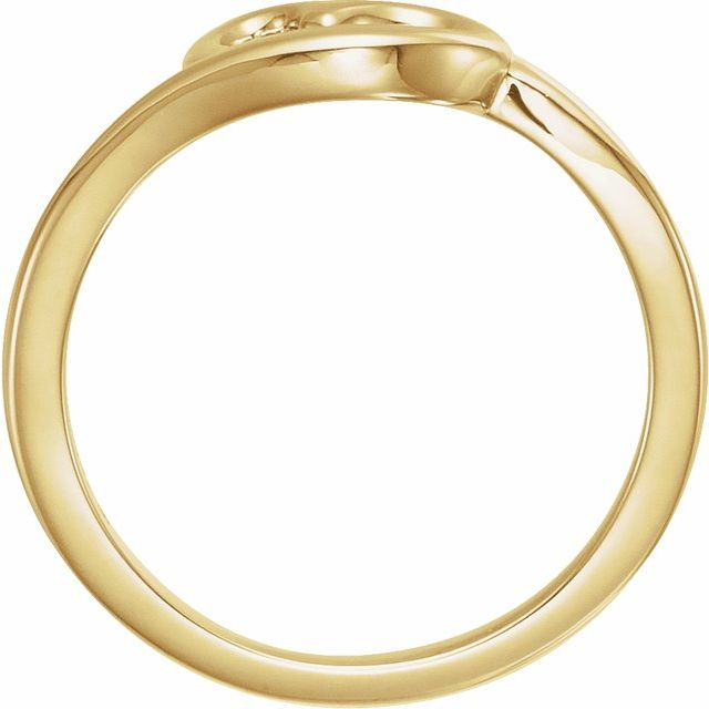 14K Yellow Heart Youth Ring