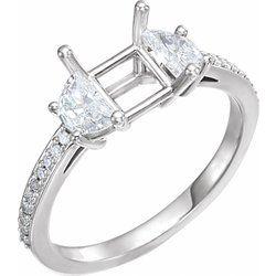 Diamond Engagement Ring, Semi-mount or Band