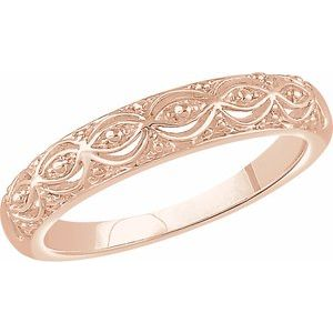 14K Rose Sculptural Band