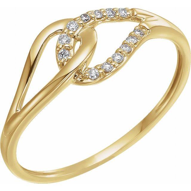 14K Yellow .08 CTW Diamond Ring