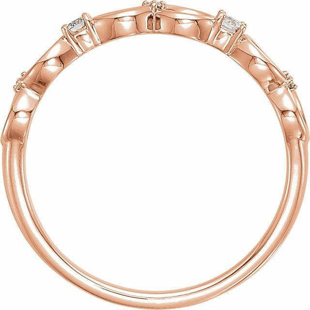 14K Rose .08 CTW Diamond Infinity-Inspired Ring