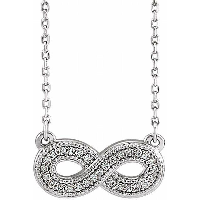 14K White .08 CTW Diamond Infinity-Inspired 16-18