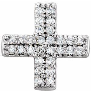 14K Rose .07 CTW Diamond Cross Necklace