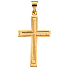 14K Yellow 28x18 mm Cross Pendant