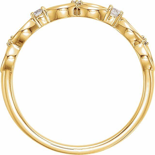 14K Yellow .08 CTW Diamond Infinity-Inspired Ring