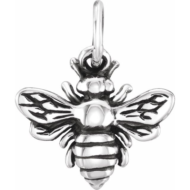 Sterling Silver Honey Bee Charm