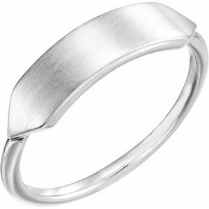 Sterling Silver 20x5 mm Geometric Signet Ring