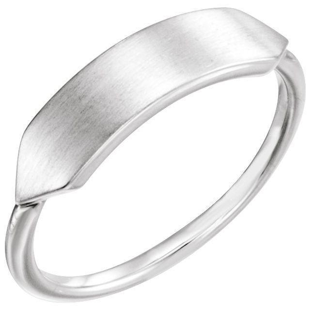 Sterling Silver 20x5 mm Geometric Signet Ring