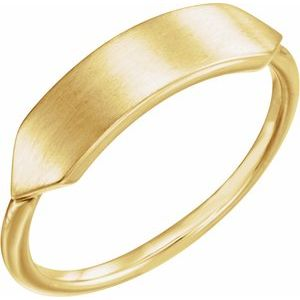 14K Yellow 19.7x5 mm Geometric Signet Ring