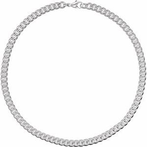 "Sterling Silver 8 mm Curb 8"" Chain"
