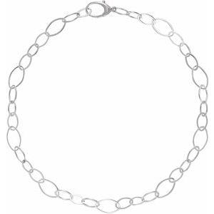 """Sterling Silver Link 18"""" Necklace"""