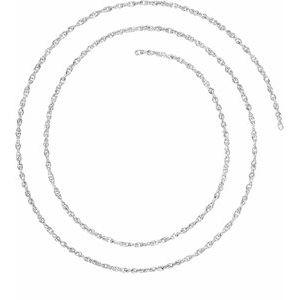 Sterling Silver 1.5 mm Rope Chain By the Inch