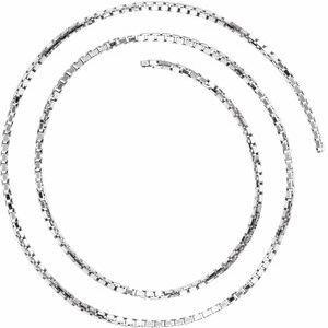 14K White 1.75 mm Diamond Cut Box Chain by the Inch