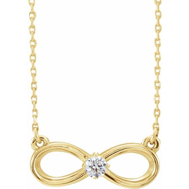 14K Yellow 1/10 CT Diamond Infinity-Inspired 16-18