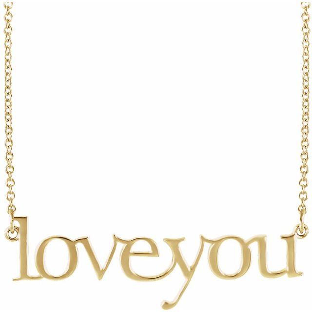 14K Yellow Love You 16 1/2