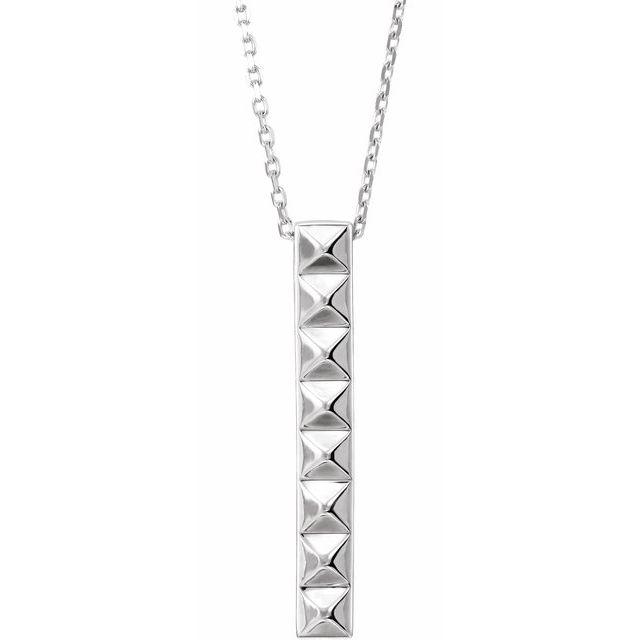 Sterling Silver Pyramid Bar 16-18