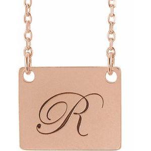 "14K Rose Geometric 18"" Necklace"