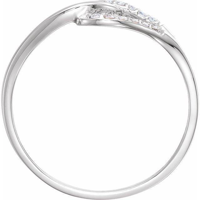 14K White .08 CTW Diamond Ring
