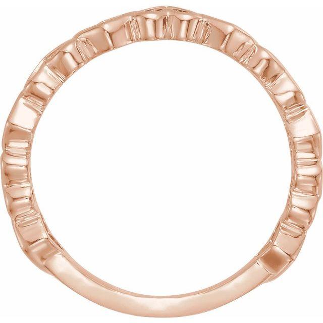 14K Rose Heart Ring