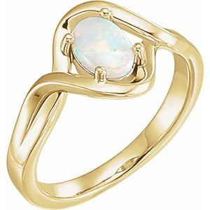 14K Yellow Opal Freeform Ring