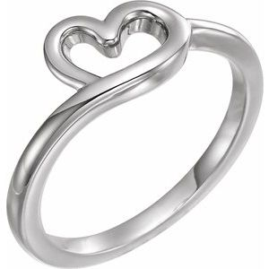 Sterling Silver Heart Youth Ring