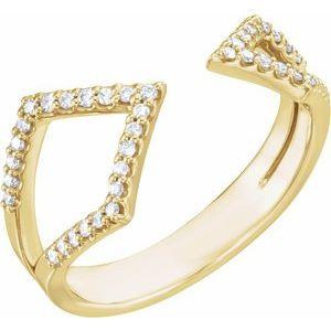 14K Yellow 1/5 CTW Diamond Geometric Ring