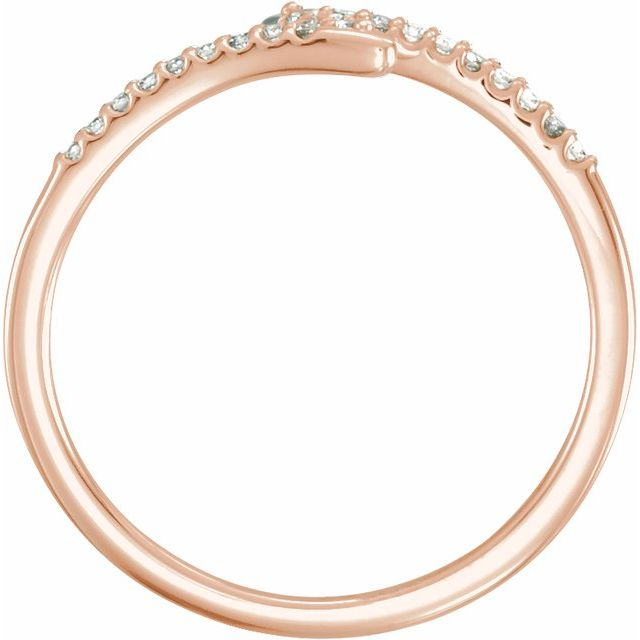 14K Rose 1/8 CTW Diamond Stackable Ring