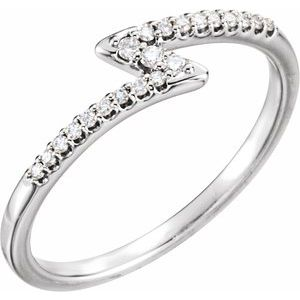 14K White 1/8 CTW Diamond Stackable Ring
