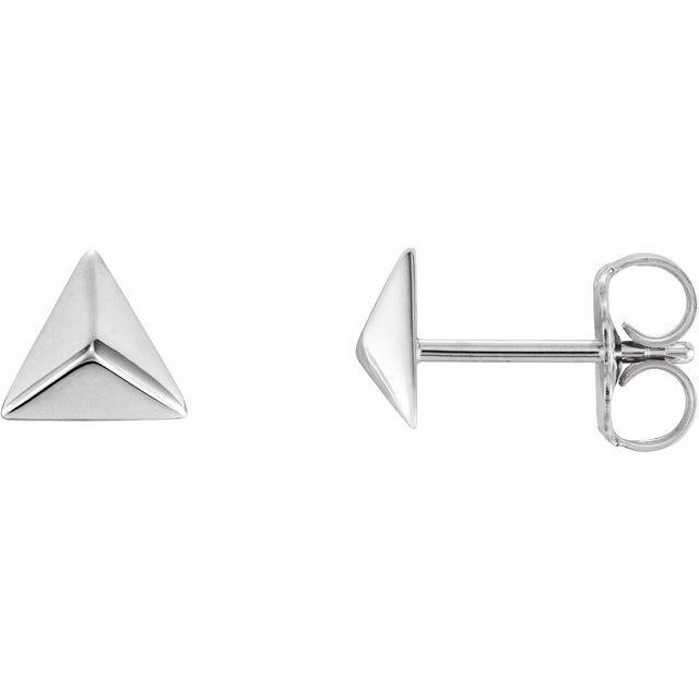 Platinum Pyramid Earrings