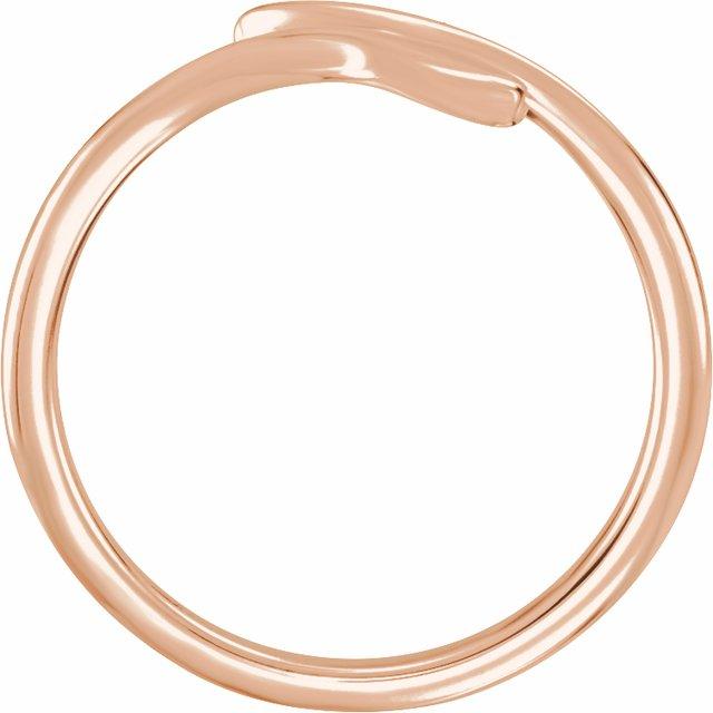 14K Rose Snake Ring