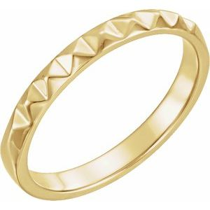 14K Yellow Stackable Pyramid Ring