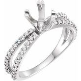 Accented Engagement Ring or Peg Shank