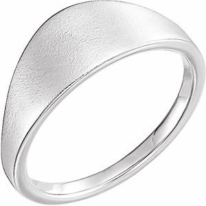 14K White 21x7 mm Geometric Signet Ring