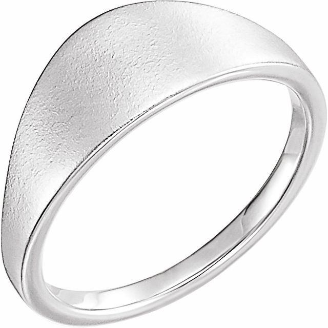 Sterling Silver 21x7 mm Geometric Signet Ring