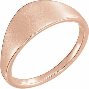 14K Rose 21x7 mm Geometric Signet Ring