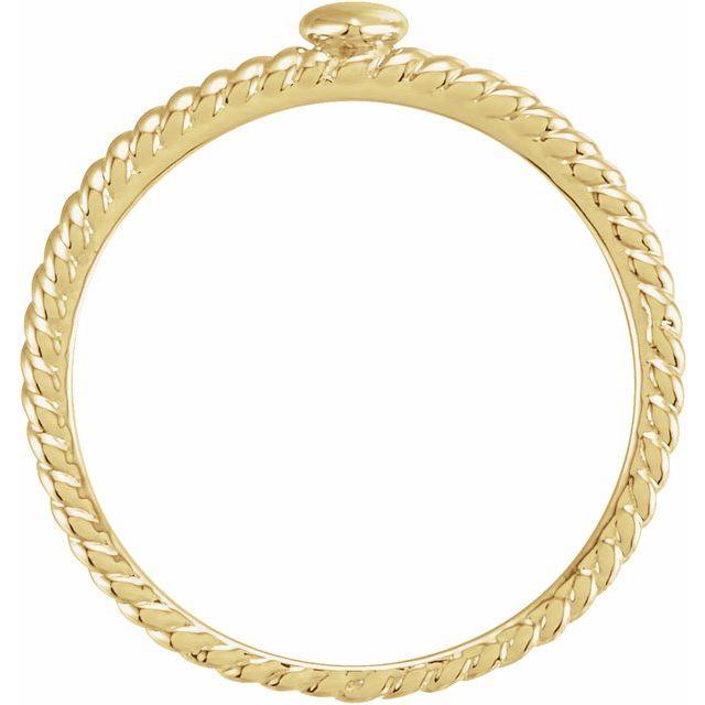 14K Yellow Heart Rope Ring