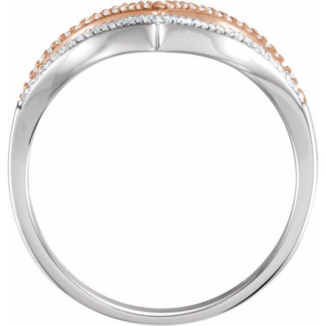 14K White & Rose 1/6 CTW Diamond