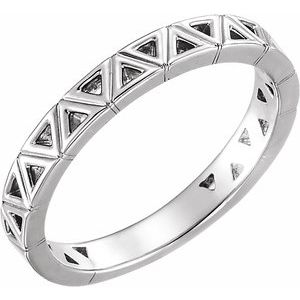 14K White Stackable Geometric Ring