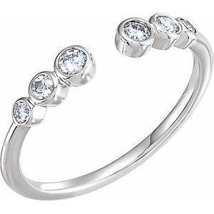 14K White 1/4 CTW Diamond Negative Space Ring
