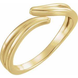 14K Yellow Bypass Ring
