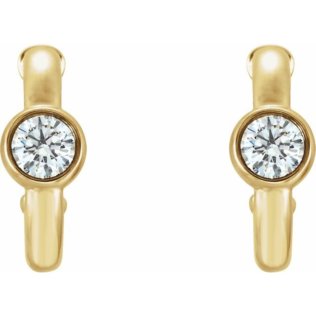 14K Yellow 1/4 CTW Diamond Huggies