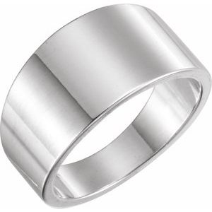 Sterling Silver 11 mm Tapered Band Size 11