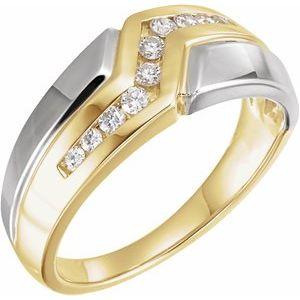 14K Yellow/White 1/3 CTW Diamond Band