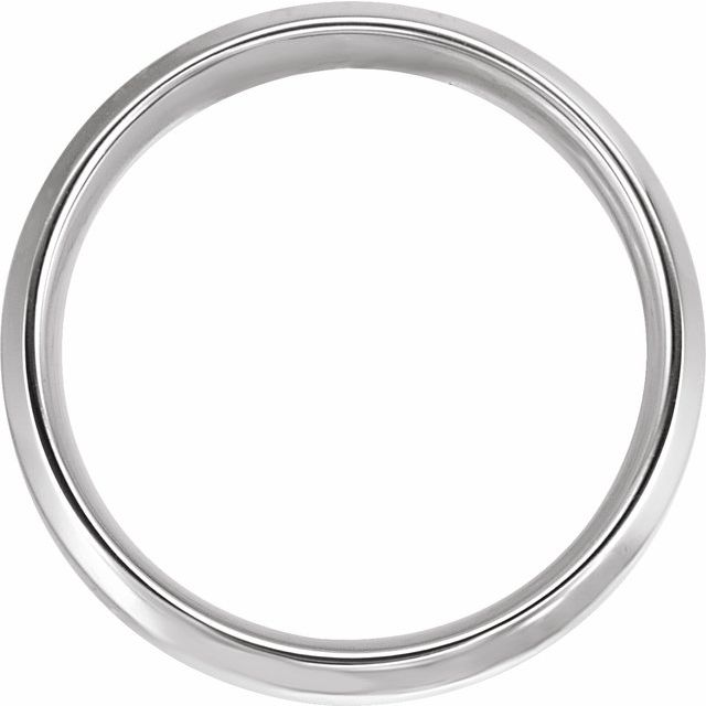 14K White/Yellow 6 mm Beveled-Edge Comfort-Fit Band Size 4.5