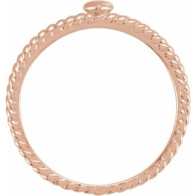 14K Rose Heart Rope Ring