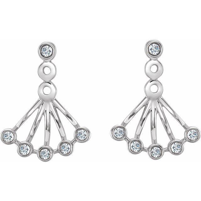 14K White 1/6 CTW Diamond Earrings