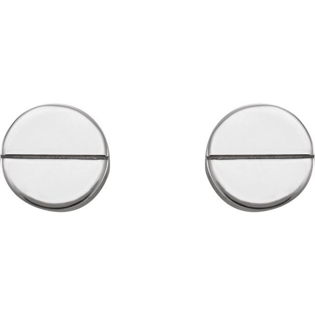 Platinum Geometric Earrings
