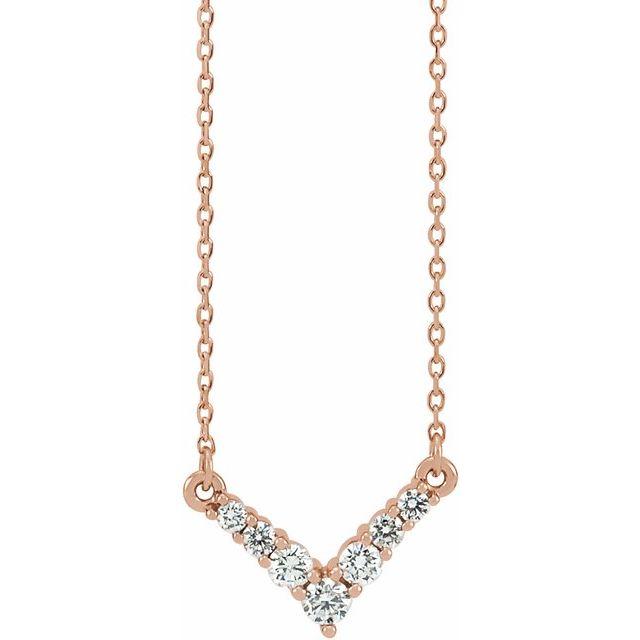 14K Rose 1/3 CTW Diamond