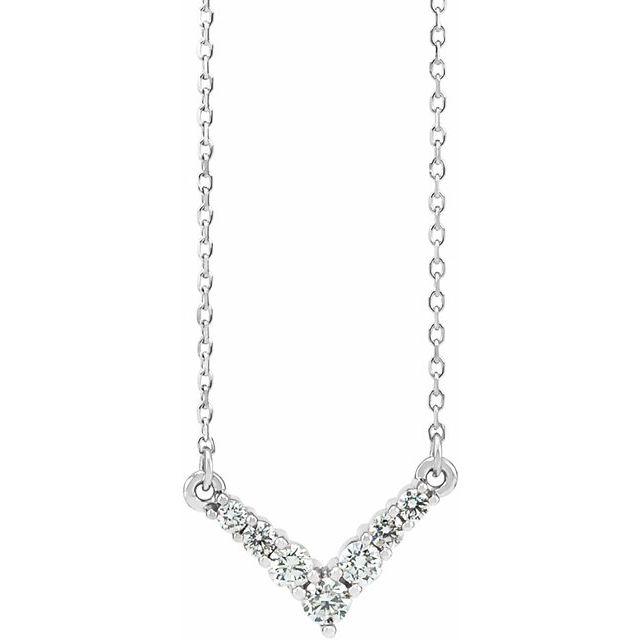 14K White 1/3 CTW Diamond