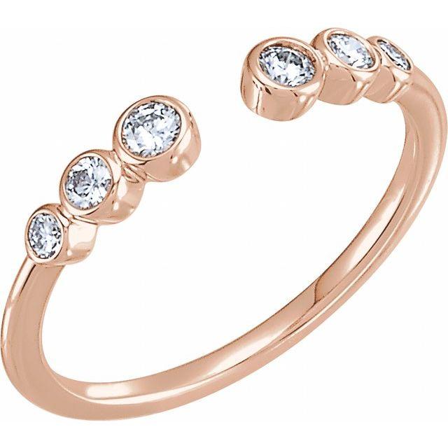 14K Rose 1/4 CTW Diamond Negative Space Ring